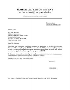 Letter Of Intent Template Business Partnership - Letter Intent Application Job