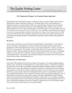 Letter Of Intent Template Graduate School - Sample Personal Statements Graduate School