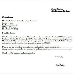 Letter Of Intent Template Graduate School - Generic Letter Intent Template Collection