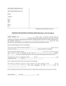 Letter Of Intent to File A Lien Template - Letter Intent to File A Lien Template Examples