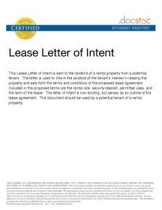 Letter Of Intent to Lease Commercial Property Template - Letter Intent to Lease Mercial Property Template Examples