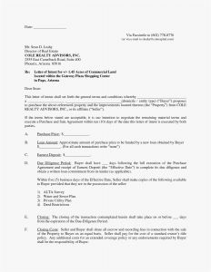 Letter Of Intent to Lease Commercial Space Template - Letter Intent Template Letter Employment Letter Intent for