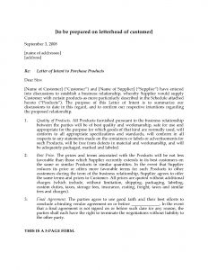 Letter Of Intent to Purchase A Business Template - Letter Intent to Purchase A Business Template Free Downloads