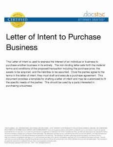 Letter Of Intent to Purchase A Business Template - Letter Intent for New Business Template New Letter Intent