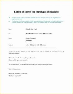 Letter Of Intent to Purchase A Business Template - Letter Intention Best Letter Intent to Purchase Business