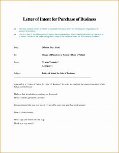 Letter Of Intent to Purchase Business Template - Letter Intent to Sell A Business Template Sample