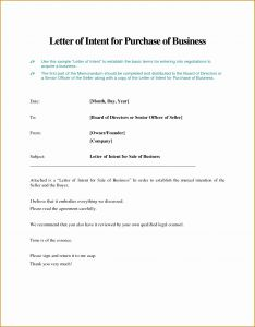 Letter Of Intent to Purchase Business Template Free - Letter Intention Best Letter Intent to Purchase Business