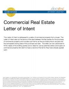 Letter Of Intent to Purchase Real Estate Template - Letter Intent to Purchase Template Collection