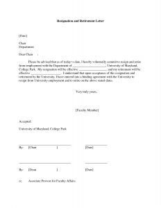 Letter Of Intent to Retire Template - Resignation Letter format Shocking Examples Retirement Letter