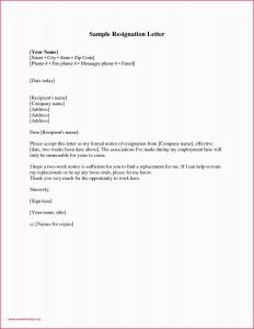 Letter Of Intent to Retire Template - Example A Resignation Letter Resignation Letter Template