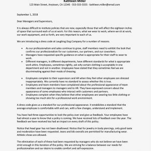 Letter Of Introduction Template for Employment - Sample Letter to Introduce A Dress Code