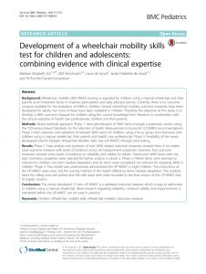 Letter Of Medical Necessity for Wheelchair Template - Pdf Development Of A Wheelchair Mobility Skills Test for Children