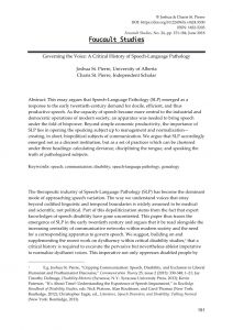 Letter Of Medical Necessity Template Speech therapy - Pdf Governing the Voice A Critical History Of Speech Language