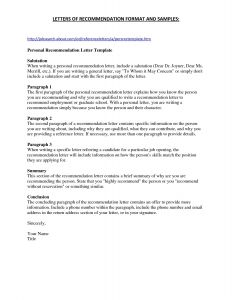 Letter Of Recomendation Template - Letter Re Mendation Template for Employee Collection