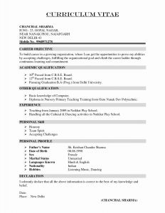 Letter Of Recommendation for A Job Template - Resume Template for Letter Re Mendation Collection