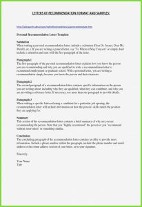 Letter Of Recommendation for A Job Template - Re Mendation Letter for Job Template Professional Re Mendation