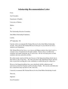 Letter Of Recommendation for College Scholarship Template - Reference Letter Reference format for Scholarship