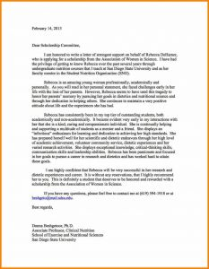 Letter Of Recommendation for College Scholarship Template - Scholarship Letter Of Re Mendation Template