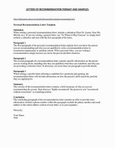 Letter Of Recommendation for Employment Template - Letter Re Mendation format Beautiful High School Re Mendation