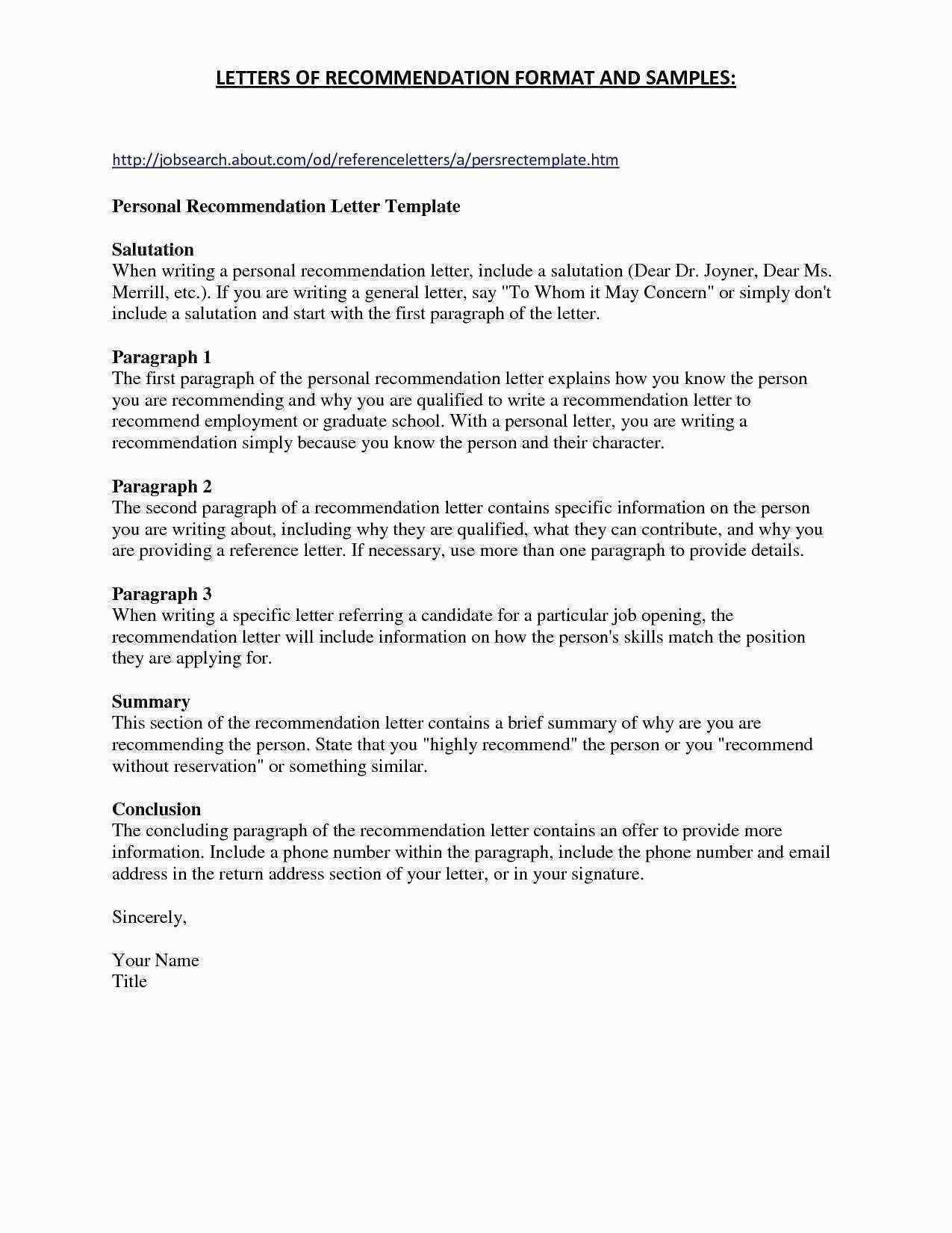 letter of recommendation for employment template Collection-Letter Re mendation format Beautiful High School Re Mendation Letter Template Best Job Re Mendation 12-i