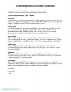 Letter Of Recommendation for Residency Template - Template for Re Mendation Letter Cv Templates French Sample