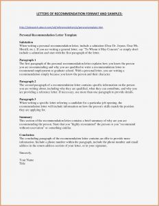 Letter Of Recommendation From Employer Template - Letter Remmendation format Template Job Inspirationa Letter Re