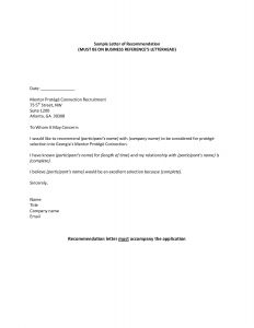 Letter Of Recommendation From Employer Template - Job Re Mendation Letter format Re Mendation Letter for