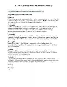 Letter Of Recommendation Letter Template - Good Character Reference Letter Template Gallery
