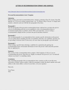 Letter Of Recommendation Template for College - College Re Mendation Letter Template Collection