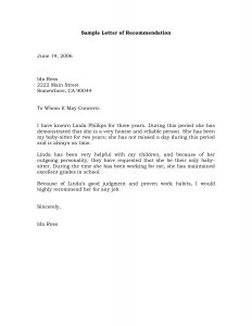 Letter Of Recommendation Template for College - Letters Of Re Mendation Samples Bing