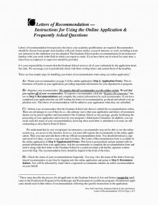 Letter Of Recommendation Template for Graduate School - 45 Unique Letter Re Mendation Template for Graduate School