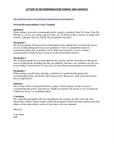Letter Of Recommendation Template for Job - Letters Re Mendation Templates Cv Templates Samples Letters Re