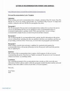 Letter Of Recommendation Template for Job - Letter Reference Hotel Inspirationa Sample Cover Letter for