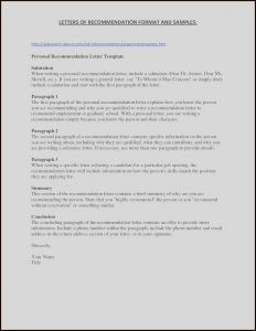 Letter Of Recommendation Template for Job - Letter Re Mendation format Template Refrence 49 Unique