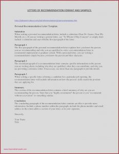Letter Of Recommendation Template Free - Example Letter Re Mendation Job 49 Unique Reference Page for