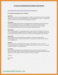 Letter Of Recommendation Template Free - College Letter Re Mendation Template Example College Re