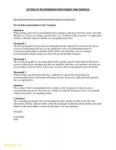 Letter Of References Template - 14 Elegant Letter Re Mendation format Land Of Template