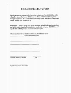 Letter Of Release Template - Agreement form Template Model Signed Waiver form Lovely Landowner
