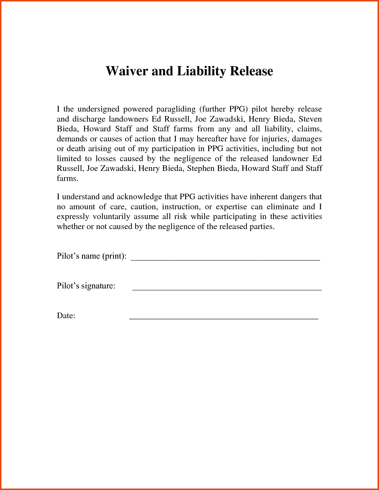 letter of release template example-Release Liability form Template Best Signed Waiver form Lovely Landowner Agreement 0d Rosheruns – 4-e