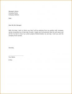 Letter Of Resignation Free Template - Polite Resignation Letter