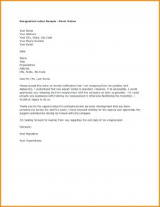Letter Of Resignation Template Pdf - Letter Resignation Example Best Resignation Letter Examplessample
