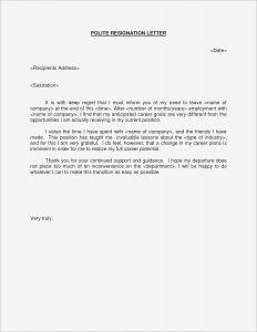 Letter Of Resignation Template Pdf - Example Letter Resignation Hostile Work Environment Save Hostile