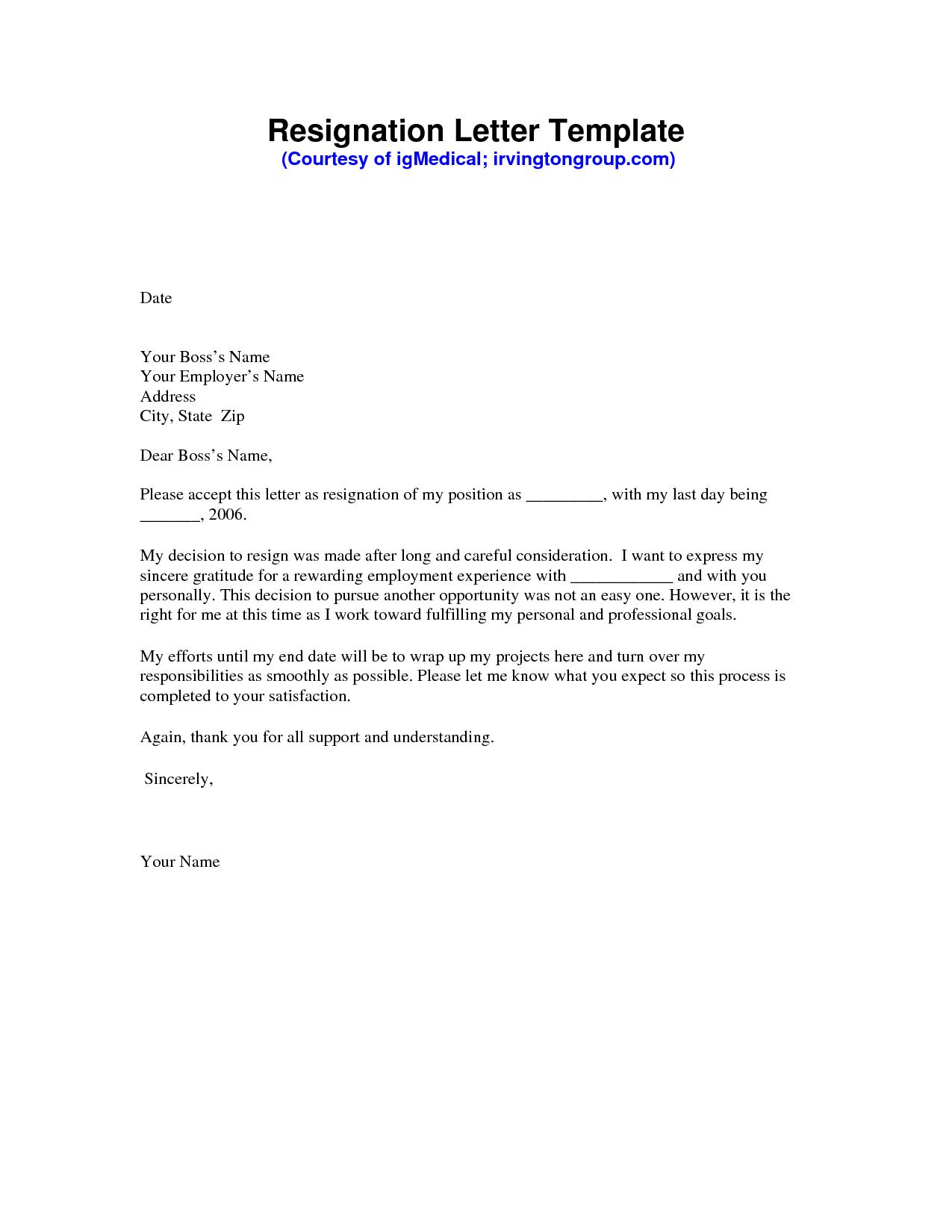 letter of resignation template pdf example-Resignation Letter Sample PDF 8-b