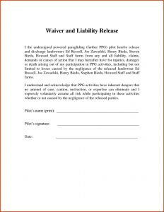 Letter Of Responsibility Template - 13 Best Release Liability form Template Land Of Template