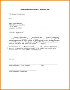Letter Of Substantial Completion Template - Letter Substantial Pletion Template Examples