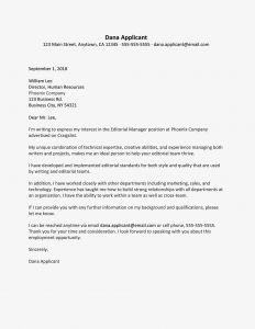 Letter Of Transmittal Template Word - Sample Cover Letter and Resume for An Editor Job