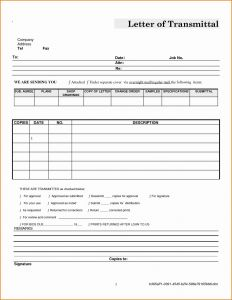 Letter Of Transmittal Template Word - Letter Transmittal Template Doc Examples