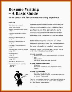 Letter Outline Template - 22 How to Prepare A Best Resume format