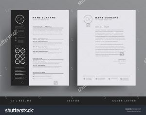 Letter Pad Design Template - Professional Cv Resume Template Design Letterhead Stock Vector