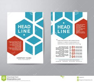 Letter Pad Design Template - Hexagonal Brochure Flyer Design Layout Template In A4 Size with